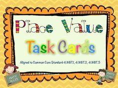52 Place Value Task Cards Common Core Aligned. Answer Key included! Base Ten, Standard Form, Expanded Form, Word Form, Comparing, Rounding. $