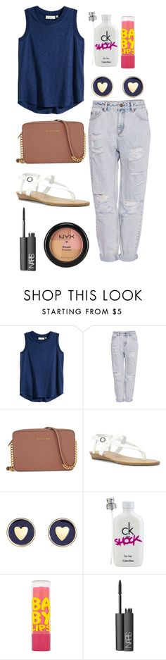 """z o o"" by mikeykors ❤ liked on Polyvore featuring H&M, Pull&Bear, Michael Kors, Blowfish, Brooks Brothers, Calvin Klein, Maybelline, NARS Cosmetics and NYX"