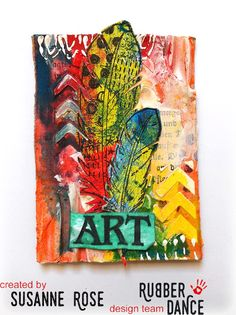 * Rubber Dance Blog *: Mixed Media ATCs - Video by Susanne