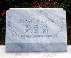Duane Allman And Berry Oakley Graves Before Fence Rose