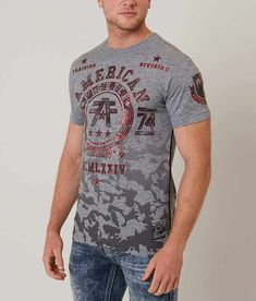 American Fighter Dalton T-Shirt - Men's T-Shirts in Heather Grey American Fighter, What To Wear, Heather Grey, Album, Hoodies, Mens Tops, T Shirt, Shopping, Image