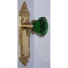 Emerald Green & Natural Brass Leaf'n Shell Hand Forged Plates Door Knobs, Door Handles, Green Nature, Emerald Green, Solid Brass, Favorite Color, Shells, Plates, Crystals