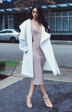 ecstasymodels:  CRÉME DE LA CRÉME    wearing my @WantMyLookdress and shoes and coat from H&M   Fashion By  JANICE JOOSTEMA
