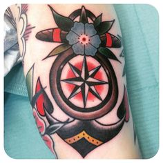 Anchor by David Choquette #traditionaltattoo @choquettetattoo http://www.choquettetattoo.com/