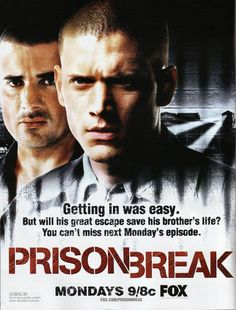 Prison Break. A story about an extremely intelligent man trying to break his brother out of prison before he is executed for a crime he did not commit.