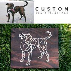 Custom Dog String Art  Geometric Dog  Dog Portrait  Animal