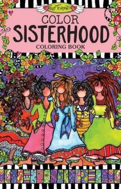 Color Sisterhood Coloring Book Perfectly Portable Pages On The Go