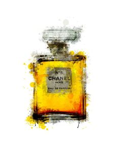 Chanel No. 5 parfume bottle painting chanel by ShufflePrints