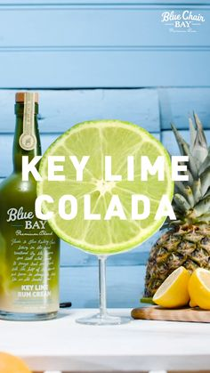 Try our Key West-inspired take on the classic Caribbean frozen drink, the Piña Colada, using Blue Chair Bay Key Lime Rum Cream. Frozen Drink Recipes, Alcohol Drink Recipes, Frozen Drinks, Key Lime Drink Recipes, Fun Drinks Alcohol, Cocktails, Party Drinks, Cocktail Drinks, Liquor Drinks