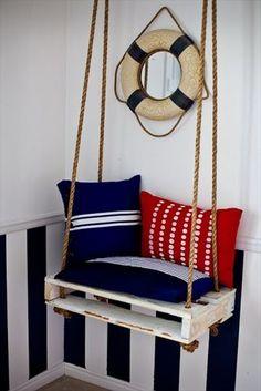 Stylish pallet sofa chair