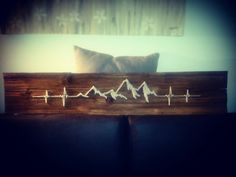 String art mountain