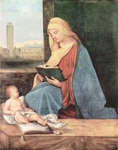 Читающая мадонна 1510 Возрождение Джорджоне