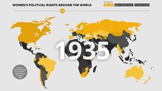 Woman's Political Rights Map
