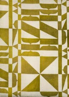 Vintage Bauhaus fabric in mustard gold and parchment by Barbara Brackman's MATERIAL CULTURE: Modernism, Quilts & the Wiener Werkstatte Pattern Dots, Doodle Pattern, Pattern Texture, Textile Texture, Surface Pattern Design, Motifs Textiles, Textile Prints, Textile Patterns, Textile Design