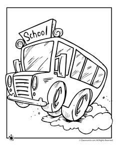 School Bus color page transportation coloring pages, color plate ...