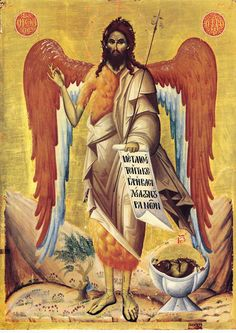 St. John the Baptist / Άγιος Ιωάννης Πρόδρομος Byzantine Icons, Byzantine Art, Tarot, Antique Paint, John The Baptist, Orthodox Icons, Religious Art, Christian Faith, Saints