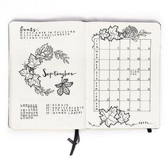 24 September Bullet Journal Layouts & Themes You'll LOVE Ideas for your September bullet journal including the best themes, cover page, habit trackers, and more pretty September bujo page ideas. The cutest bullet journal ideas. Bullet Journal Cover Ideas, Bullet Journal Monthly Spread, Bullet Journal Themes, Bullet Journal Layout, Bullet Journal Inspiration, Journal Ideas, Bujo Monthly Spread, Journal Prompts, Bullet Journals