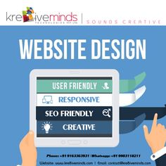 #WEBSITE #DESIGN  #Creative  #Responsive #User Friendly #SEO Friendly Call us now at +91 9903118211 Website: http://www.kre8iveminds.com #ecommerce #webdesign #websitedesign