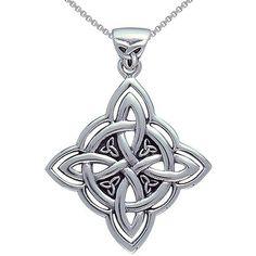 Celtic Necklace, Silver Pendant Necklace, Sterling Silver Necklaces, Knot Necklace, Silver Rings, Necklace Box, White Necklace, Jewelry Necklaces, Silver Bracelets