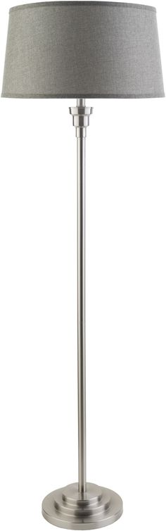 Bingham Contemporary Floor Lamp Brushed Nickel Gray