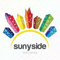 sunyside - by amir Make Your Logo, How To Make Logo, Create Your Own, Create Yourself, Real Estate Branding, Logo Maker, Social Media Design, Logo Inspiration, Business Cards