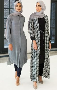 Modest fashion: How covering up became mainstream Modest Wear, Modest Dresses, Modest Outfits, Abaya Fashion, Modest Fashion, Fashion Outfits, Muslim Women Fashion, Islamic Fashion, Casual Hijab Outfit