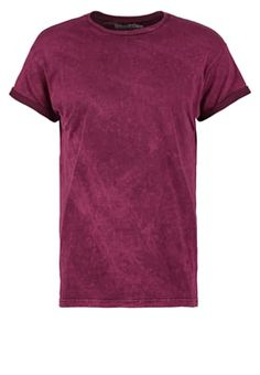 MUSCLE FIT  - T-shirt basic - burgundy
