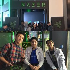 So worth to starve to meet them  Razer store grand opening was hella cool. Got to try the laptop myself and play League  #Lit by kencena2g