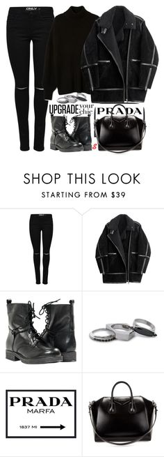 """Без названия #1127"" by sabina-127 ❤ liked on Polyvore featuring H&M, Paolo Shoes, Iosselliani, Prada and Givenchy"