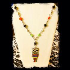Owl necklace fun for summer^OlO^
