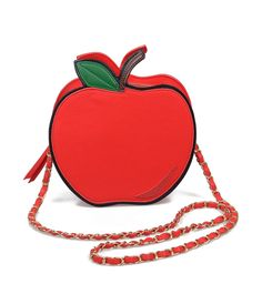 Red & Gold Apple Purse. Perfect for back to school!