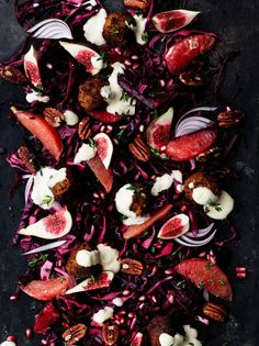 Nyhtökaura-kikhernepyörykät   Kasvis, Salaatit, Vegaaninen   Soppa365 Cooking Recipes, Healthy Recipes, Portobello, Beets, Bon Appetit, Sprouts, Cauliflower, Zucchini, Salads