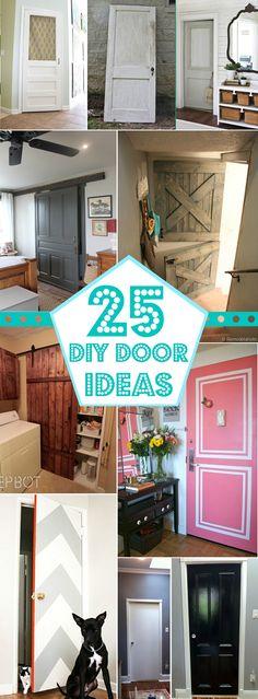25+ Great DIY Door Ideas Remodelaholic.com #doors #DIY #paint