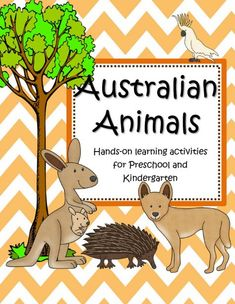 Australian animals theme activities, printables, centers and games for preschool, pre-K and Kindergarten. Australia Animals, Australia Day, Preschool Age, Preschool Crafts, Thematic Units, Australian Art, Learning Activities, Kindergarten, Teaching