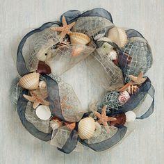 Seashell Wreath   Coastal Christmas Wreath