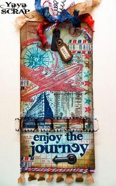 """yaya scrap & more: 12 tags of 2013 e Simon says """" Air mail"""""""