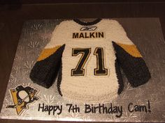 Hockey Jersey - Pittsburg on Cake Central