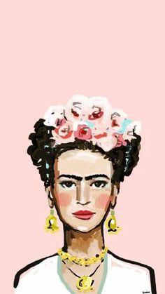 Check out this awesome collection of Frida Kahlo Art Desktop wallpapers, with 45 Frida Kahlo Art Desktop wallpaper pictures for your desktop, phone or tablet. Cute Wallpapers, Wallpaper Backgrounds, Iphone Wallpaper, Pink Wallpaper, Kritzelei Tattoo, Frida Art, Pattern Wallpaper, Art Inspo, Pop Art