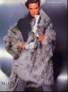 'Amazing Greys- Furs and Accessories' from…………Vogue September 1988 feat Fabienne Terwinghe