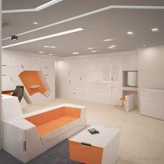 Living Interior - Office by Anastasia Zhuravleva