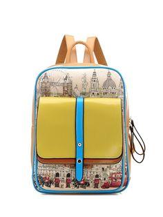 Design Vertical Type Zipper Closure Cute Backpacks