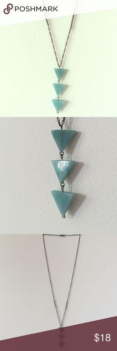 "Triangle jadeite necklace Length 28"" Jewelry Necklaces"