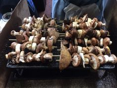 That feeling at the Old Biscuit Mill - mushroom kebabs.
