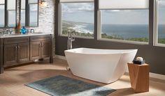 Stella® Freestanding Bath | Jacuzzi Bath Stella® showcases a distinct, yet gentle form in a stunning freestanding bath.