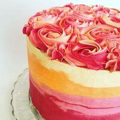 Esta tarta sombreada de melocotón. | 24 fotos de comida tan perfecta que relaja