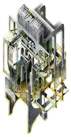 London's financial district reimagined as a disorientating labyrinth.