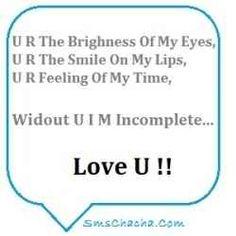 Sweet romantic sms for boyfriend