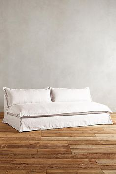 the ARK collection - Plush Belgian Linen Sofa - Fog Sofa Furniture, Furniture Design, Linen Couch, Couch Covers, Sofa Design, Slipcovers, Upholstery, Cushions, Home Decor