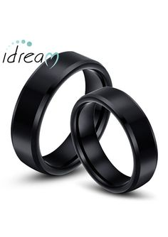 personalized black tungsten wedding bands set - Wedding Rings Black