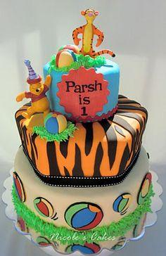 'Tigger and Pooh' Birthday Cake